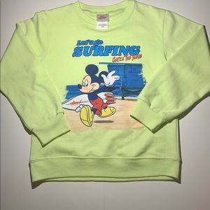 Disney Mickey Sweatshirt Neon Green